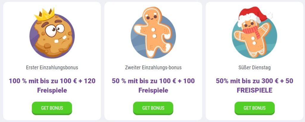 CookieCasino-Bonusse